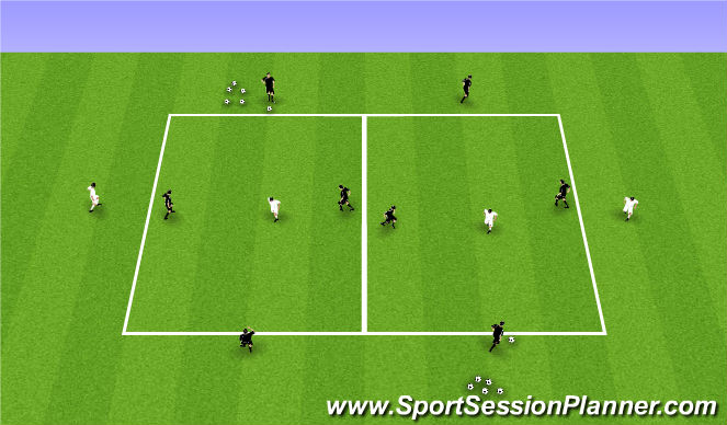 Football/Soccer Session Plan Drill (Colour): Combinations Activity