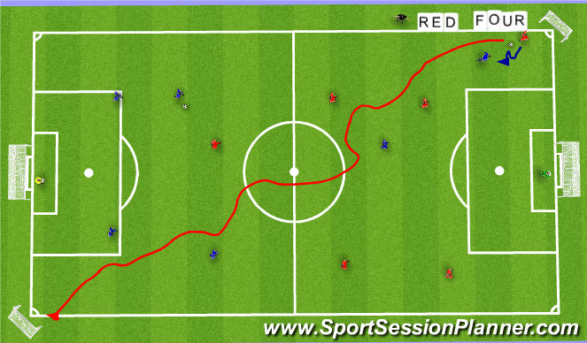 Football/Soccer Session Plan Drill (Colour): SSG (20 min)