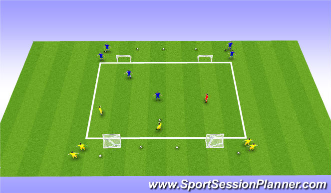 Football/Soccer Session Plan Drill (Colour): Small sided 2v2's with Neutral