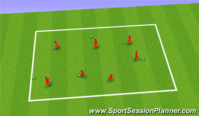 Football/Soccer Session Plan Drill (Colour): Bounce circle warm up