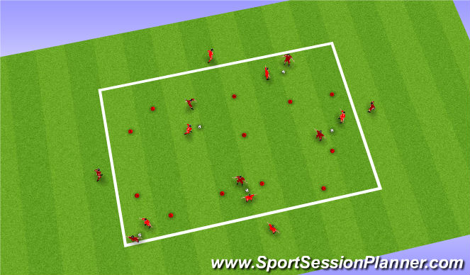 Football/Soccer Session Plan Drill (Colour): 5v5 Gate Game