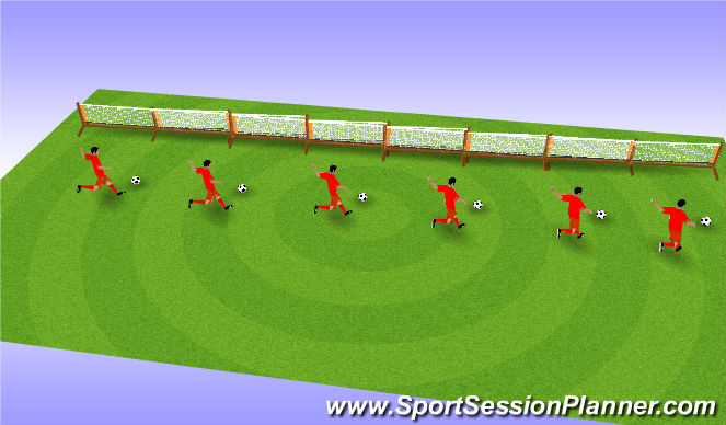 Football/Soccer Session Plan Drill (Colour): Kicking Technique