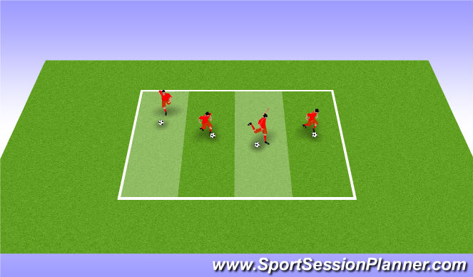 Football/Soccer Session Plan Drill (Colour): 1v1 ITCHIKUE SERIES
