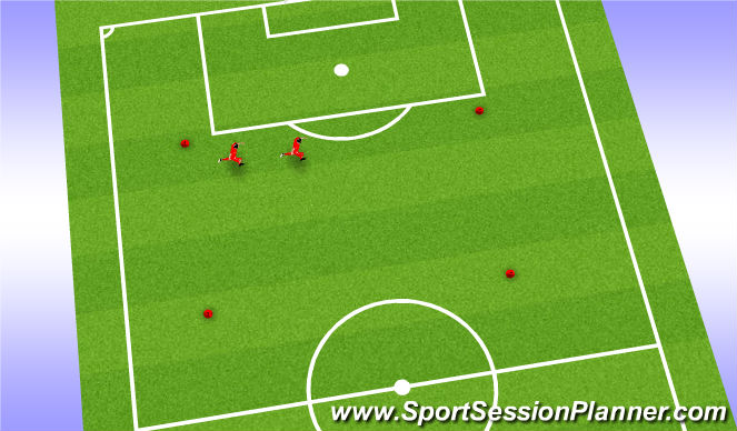 Football/Soccer Session Plan Drill (Colour): Warm up - get them moving