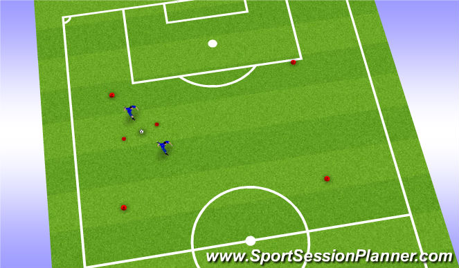 Football/Soccer Session Plan Drill (Colour): Drill Passing - Pressure