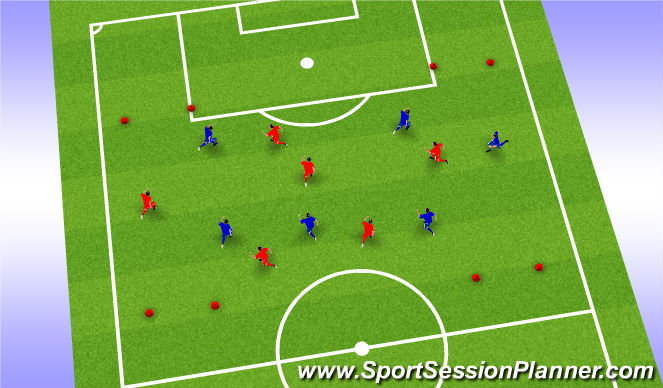 Football/Soccer Session Plan Drill (Colour): Game - Posession
