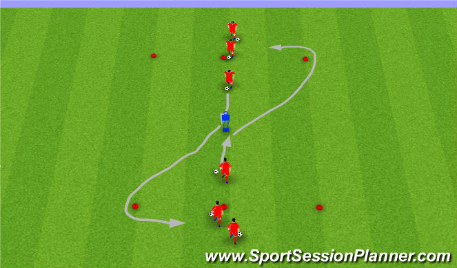 Football/Soccer Session Plan Drill (Colour): Moves Step5 I