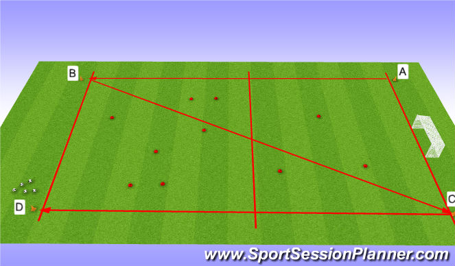 Football/Soccer Session Plan Drill (Colour): The run