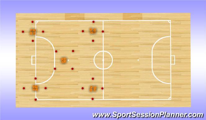 Futsal Session Plan Drill (Colour): Five Boro Half