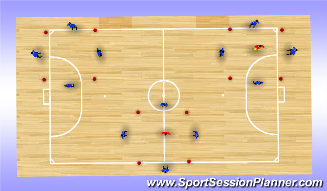 Futsal Session Plan Drill (Colour): Monkey Cages