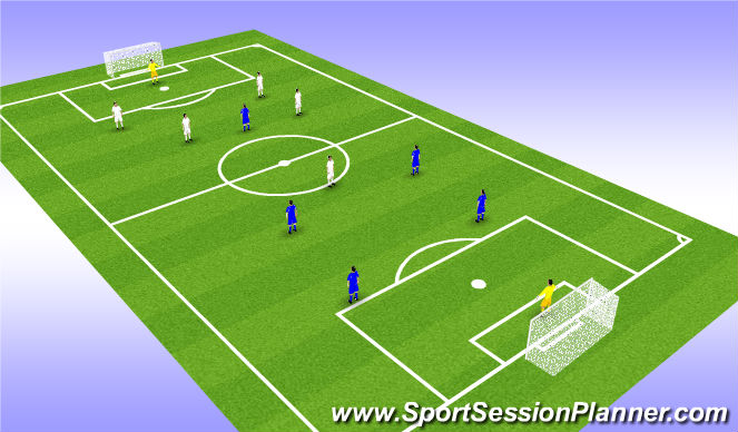 Football/Soccer Session Plan Drill (Colour): Teamwork