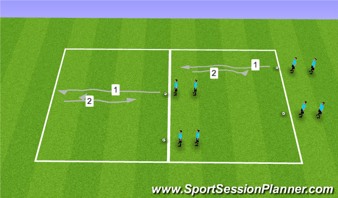Football/Soccer Session Plan Drill (Colour): Dribbling-1
