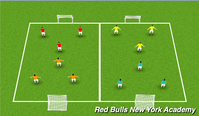 Football/Soccer Session Plan Drill (Colour): 3v3 Tournament Game(s)