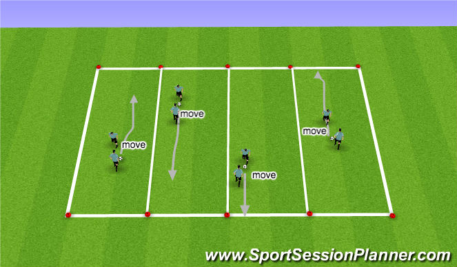 Football/Soccer Session Plan Drill (Colour): Technical Skill Acquisition (Semi to Fully Opposed)