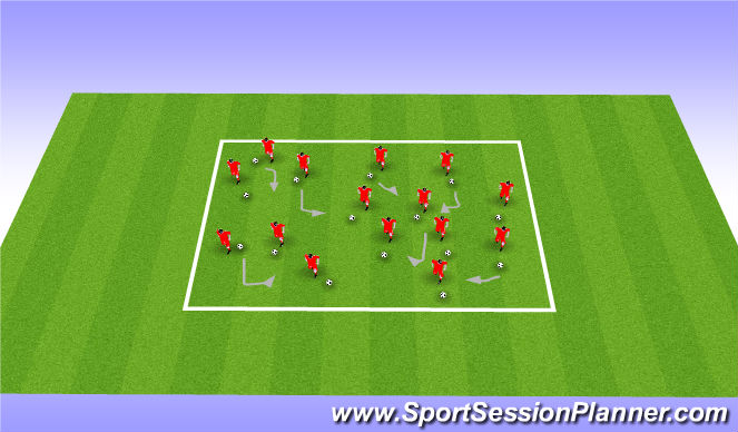 Football/Soccer Session Plan Drill (Colour): Warm-up/Activity I (20)