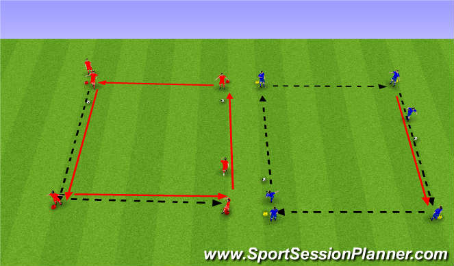Football/Soccer Session Plan Drill (Colour): Sendingahringur.