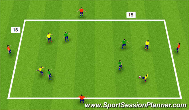 Football/Soccer Session Plan Drill (Colour): 8 v 4 posession Sm Sided Game
