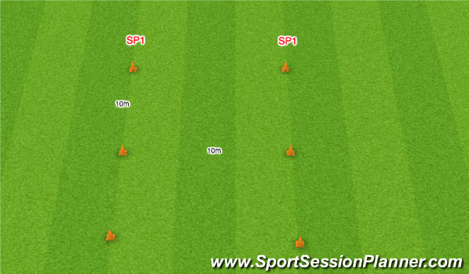 Football/Soccer Session Plan Drill (Colour): WARM UP (Before Player Testing)