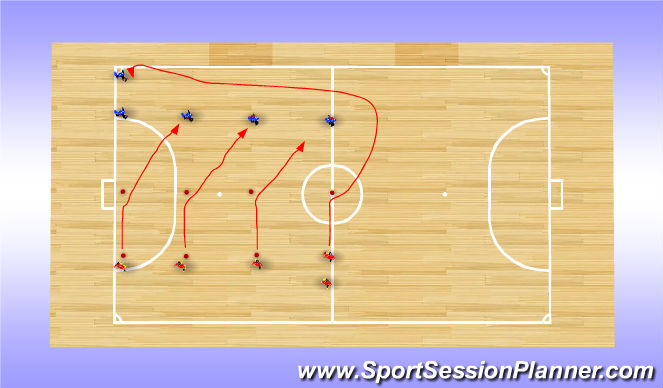 Futsal Session Plan Drill (Colour): Screen 4