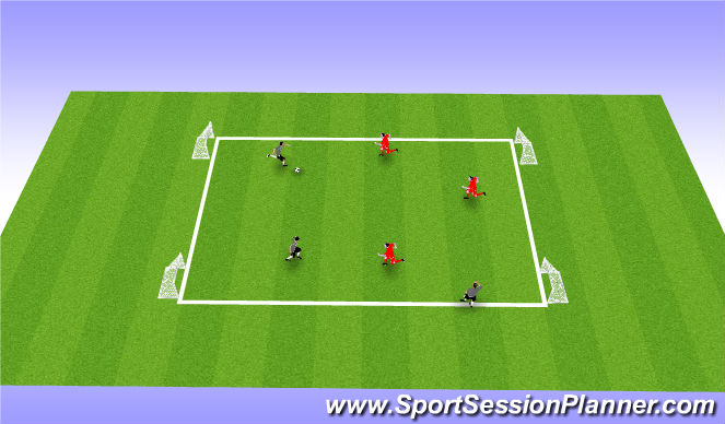 Football/Soccer Session Plan Drill (Colour): Game (20)
