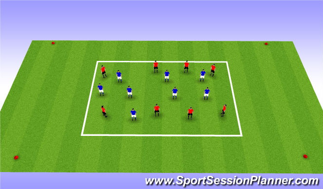 Football/Soccer Session Plan Drill (Colour): Pass and Sprint