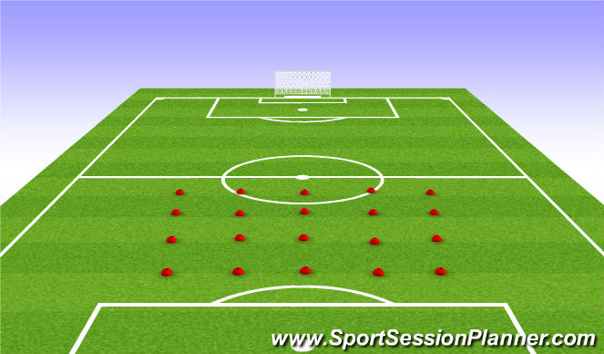 Football/Soccer Session Plan Drill (Colour): Stage: 1 Warm-Up