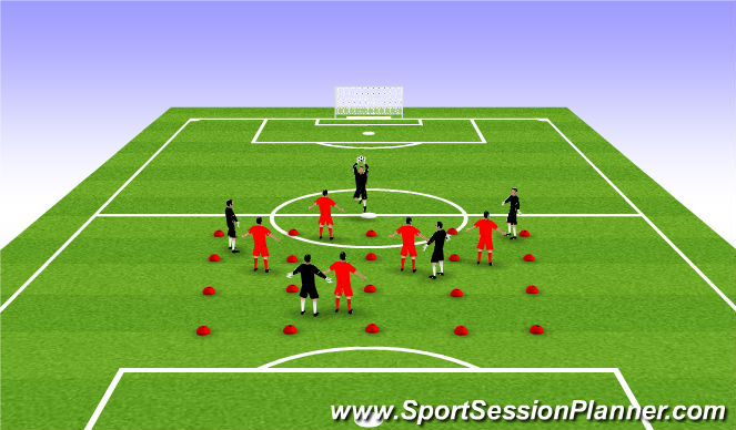 Football/Soccer Session Plan Drill (Colour): Warm-Up: A