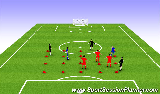 Football/Soccer Session Plan Drill (Colour): Warm-Up: B
