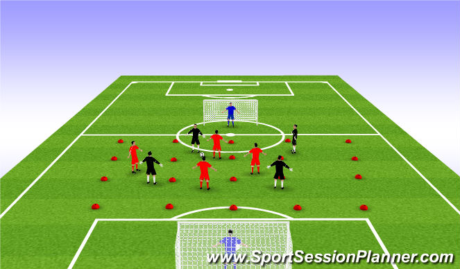 Football/Soccer Session Plan Drill (Colour): Stage 3: SSG Expanded