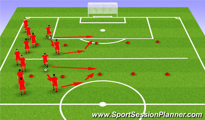Football/Soccer Session Plan Drill (Colour): Pass and Move; Open the Hips