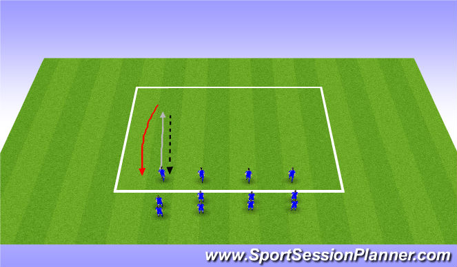 Football/Soccer Session Plan Drill (Colour): WU - Technical