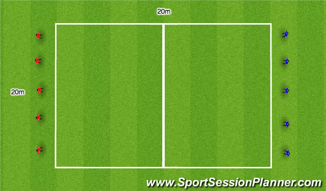 Football/Soccer Session Plan Drill (Colour): Prehab Introduction Warm Up Variation