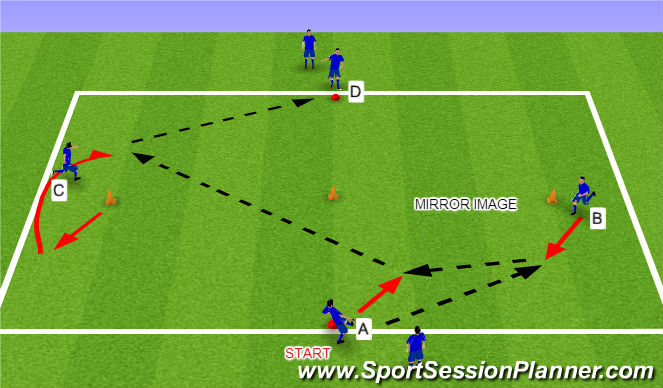 Football/Soccer Session Plan Drill (Colour): Warm Up Stage 3