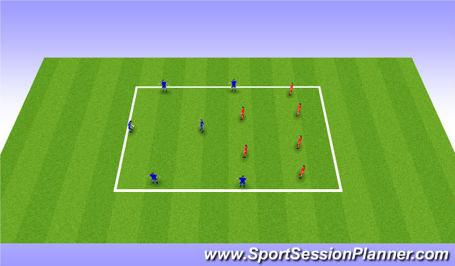 Football/Soccer Session Plan Drill (Colour): Hand Ball