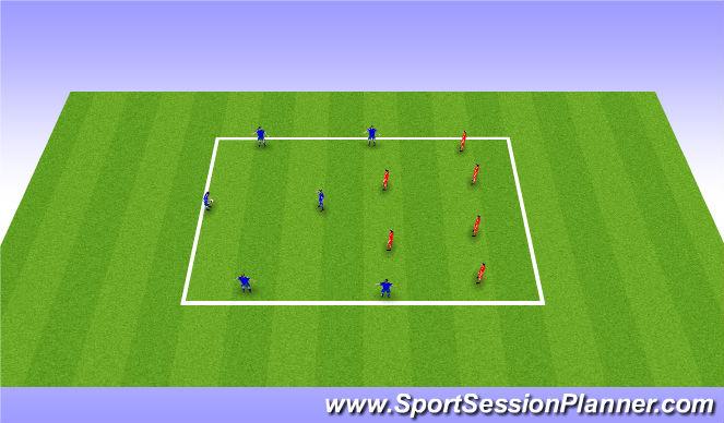 Football/Soccer Session Plan Drill (Colour): Hand Ball