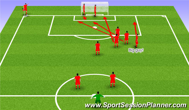 Football/Soccer Session Plan Drill (Colour): Back of area