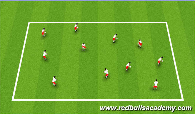 Football/Soccer Session Plan Drill (Colour): Juggling / Dynamics
