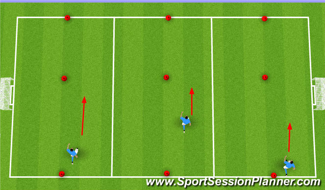 Football/Soccer Session Plan Drill (Colour): Dribble races