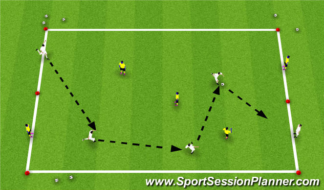 Football/Soccer Session Plan Drill (Colour): Target Possession Game