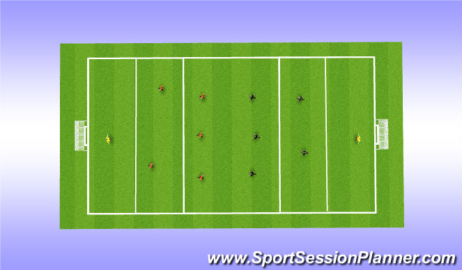 Football/Soccer Session Plan Drill (Colour): Whole -