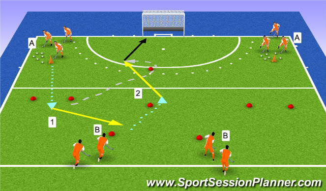 Hockey Session Plan Drill (Colour): running action