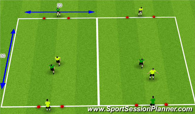 Football/Soccer Session Plan Drill (Colour): I'm open
