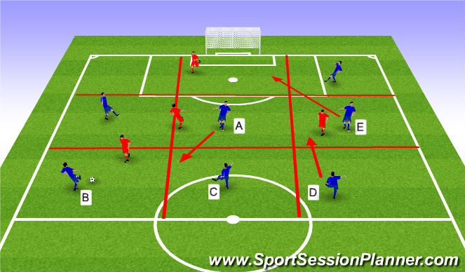 Football/Soccer Session Plan Drill (Colour): Warm up - possesion game