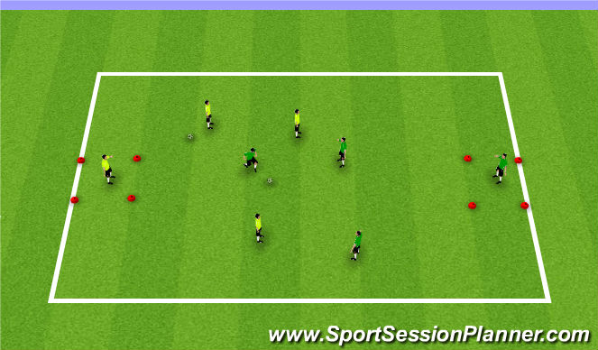 Football/Soccer Session Plan Drill (Colour): in my space