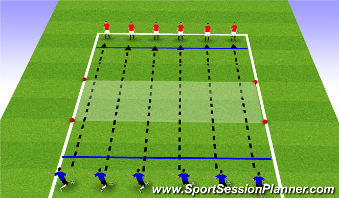 Football/Soccer Session Plan Drill (Colour): Drill - Passing over variable distance