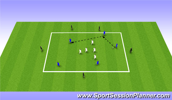 Football/Soccer Session Plan Drill (Colour): Rondo - 5v5+5