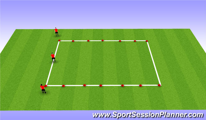 Football/Soccer Session Plan Drill (Colour): Boxes Work
