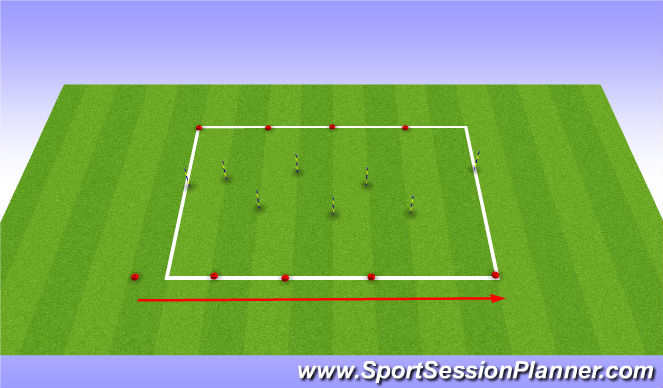 Football/Soccer Session Plan Drill (Colour): Shuttles