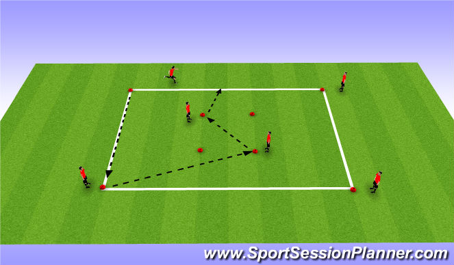 Football/Soccer Session Plan Drill (Colour): Passing and Move