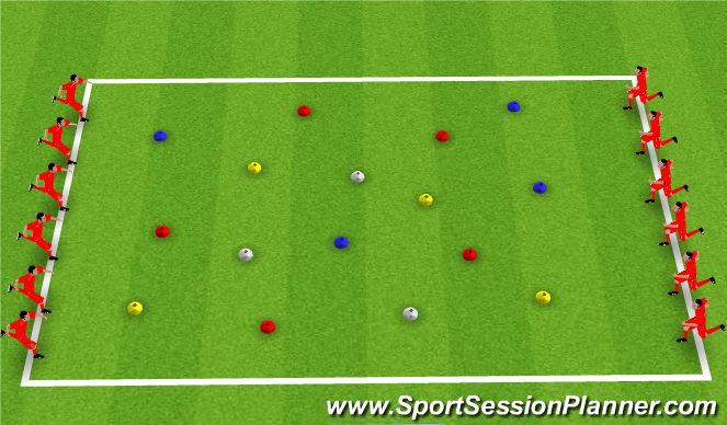 Football/Soccer Session Plan Drill (Colour): Flip the Lids
